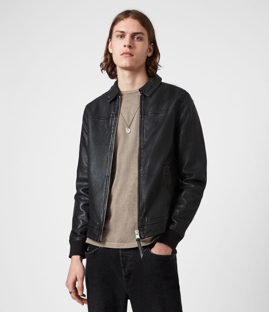 Mens Vieno Leather Jacket (black) - Image 1