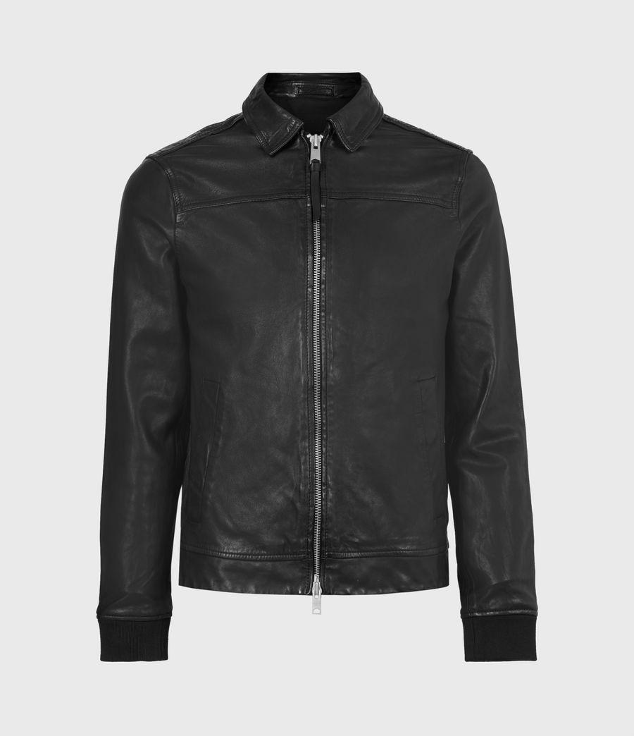 Mens Vieno Leather Jacket (black) - Image 2