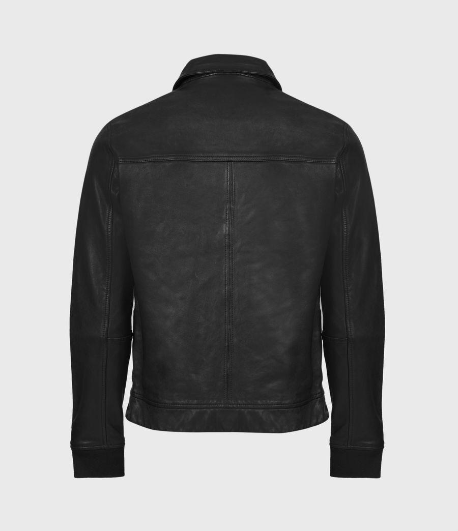 Mens Vieno Leather Jacket (black) - Image 3