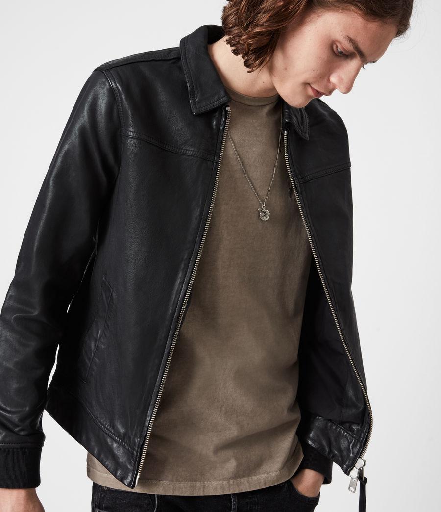 Mens Vieno Leather Jacket (black) - Image 4