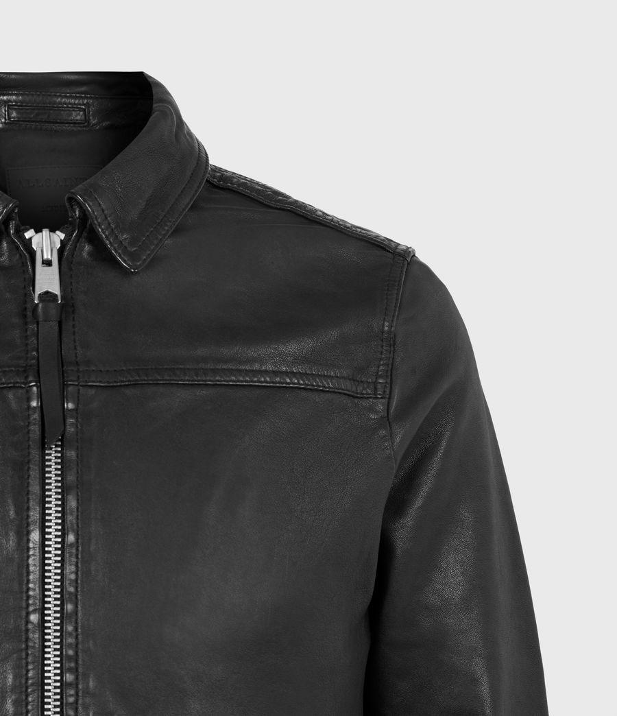 Mens Vieno Leather Jacket (black) - Image 5
