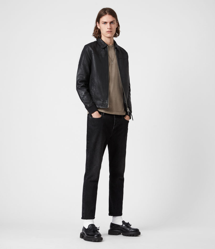 Mens Vieno Leather Jacket (black) - Image 6