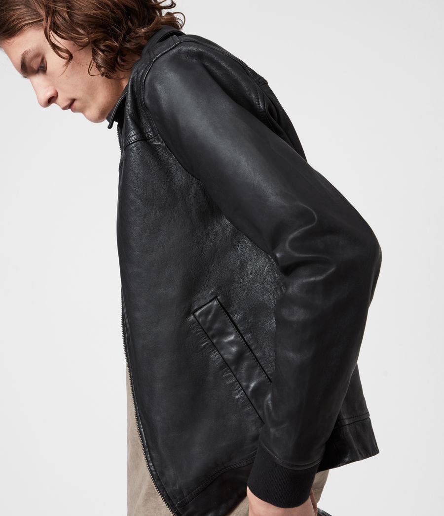 Mens Vieno Leather Jacket (black) - Image 7