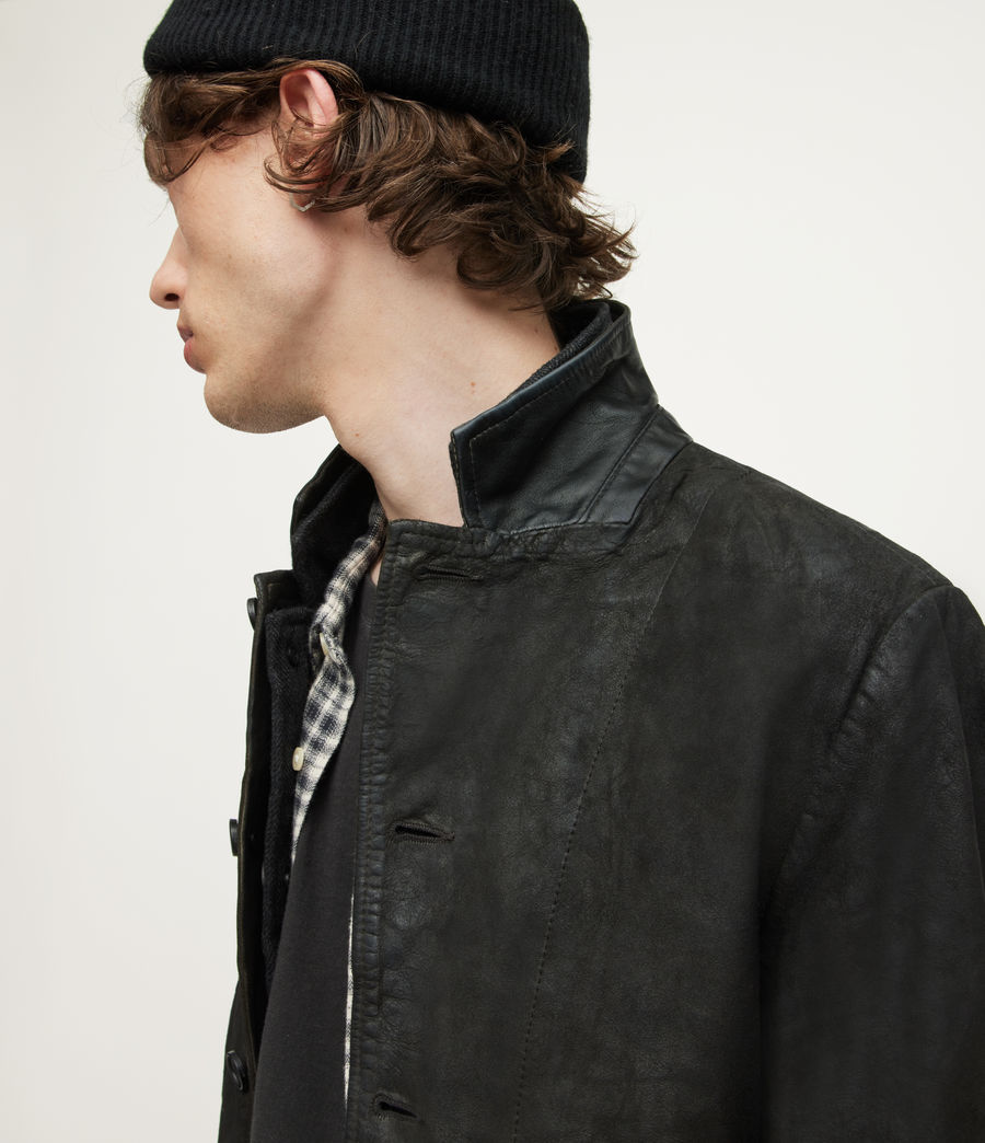 Men's Survey Leather Blazer (anthracite_grey) - Image 4