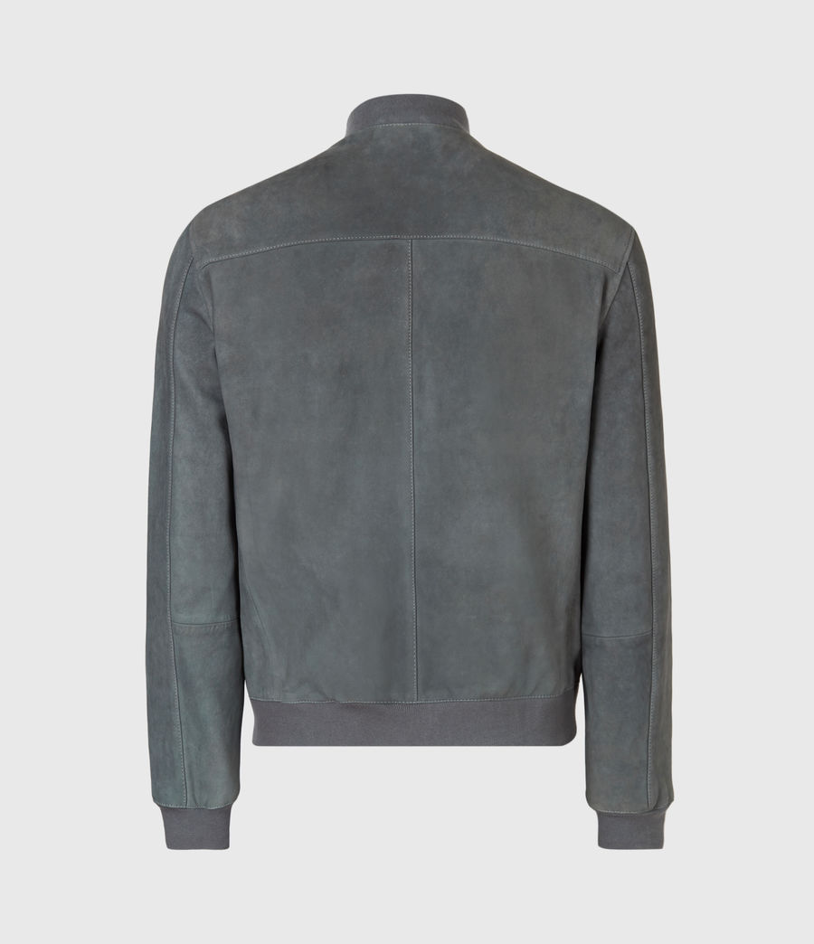 Mens Stones Suede Bomber Jacket (shadow_blue) - Image 3