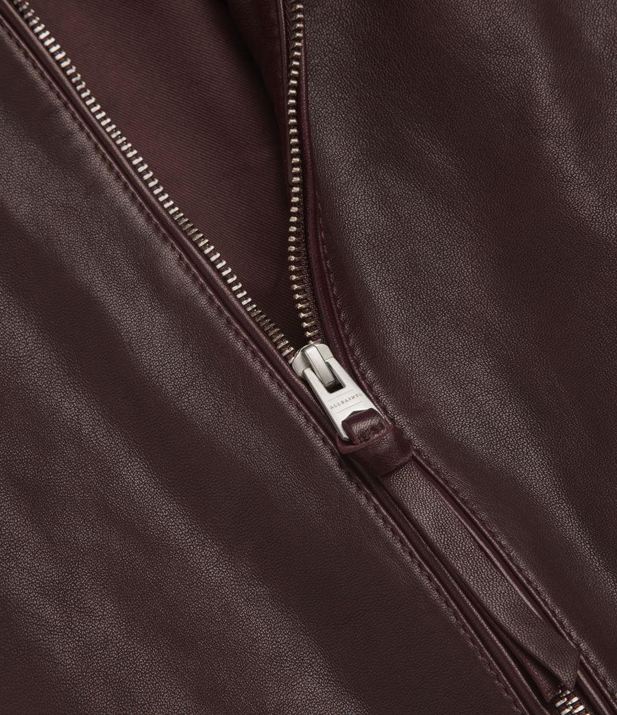 Mens Mason Leather Bomber Jacket (oxblood_red) - Image 6