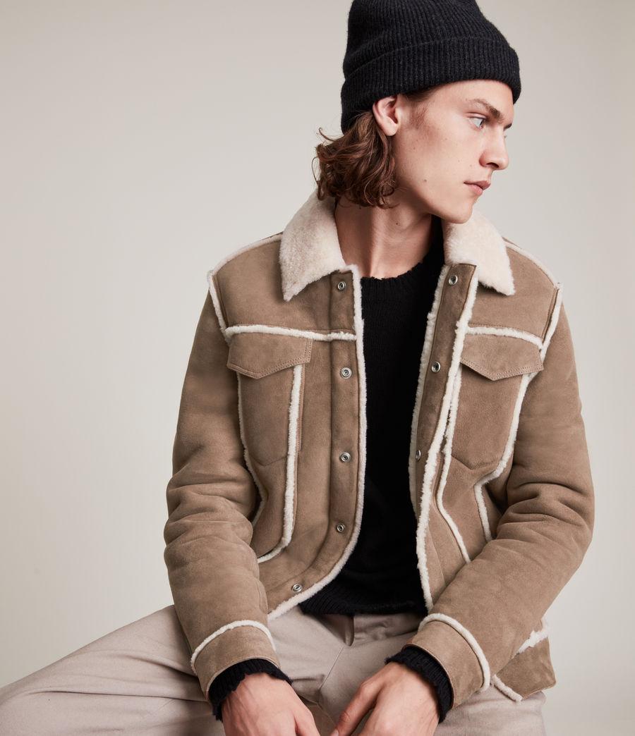 Mens Hayle Shearling Jacket (mocha_natural) - Image 1