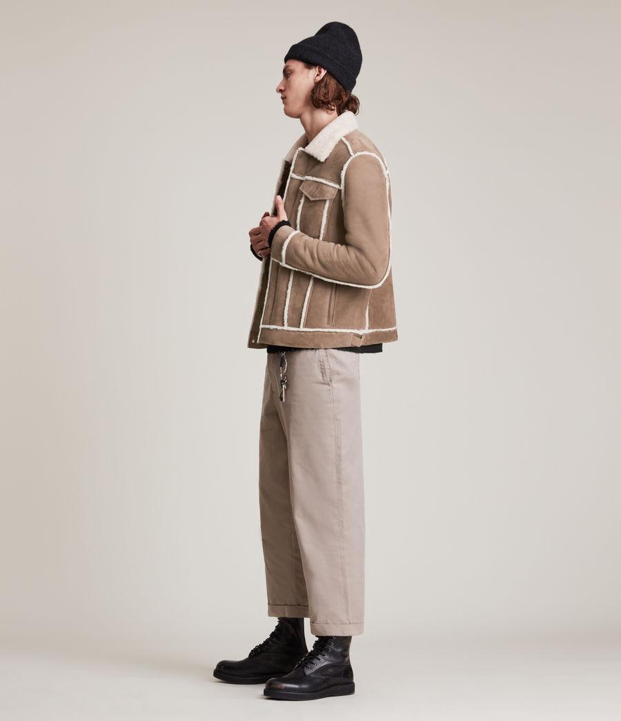 Mens Hayle Shearling Jacket (mocha_natural) - Image 2