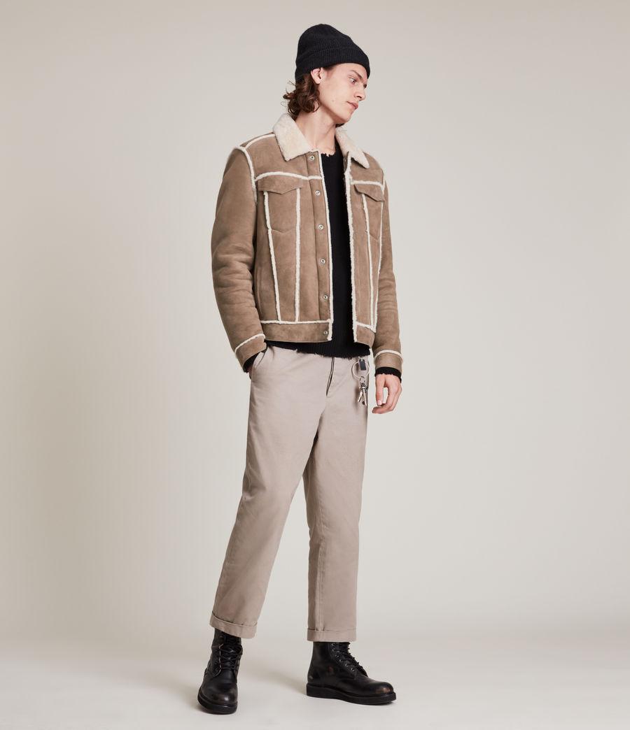 Mens Hayle Shearling Jacket (mocha_natural) - Image 3