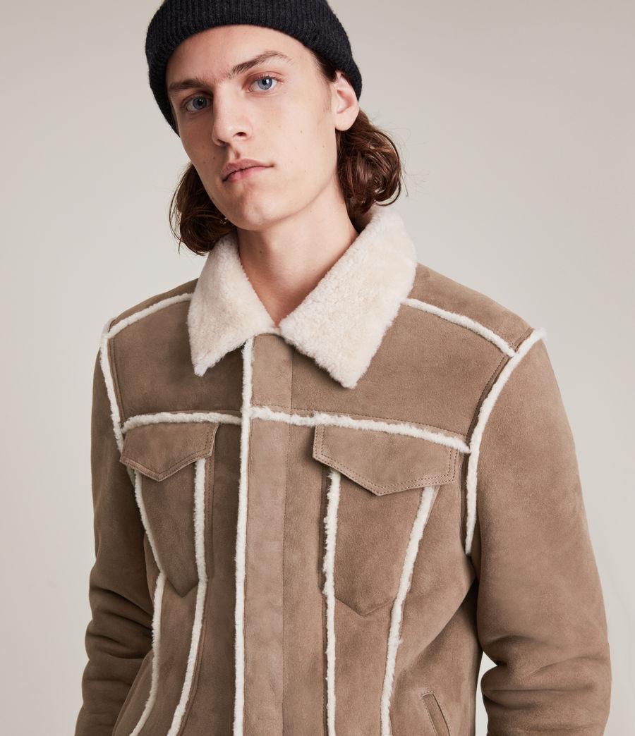 Mens Hayle Shearling Jacket (mocha_natural) - Image 4