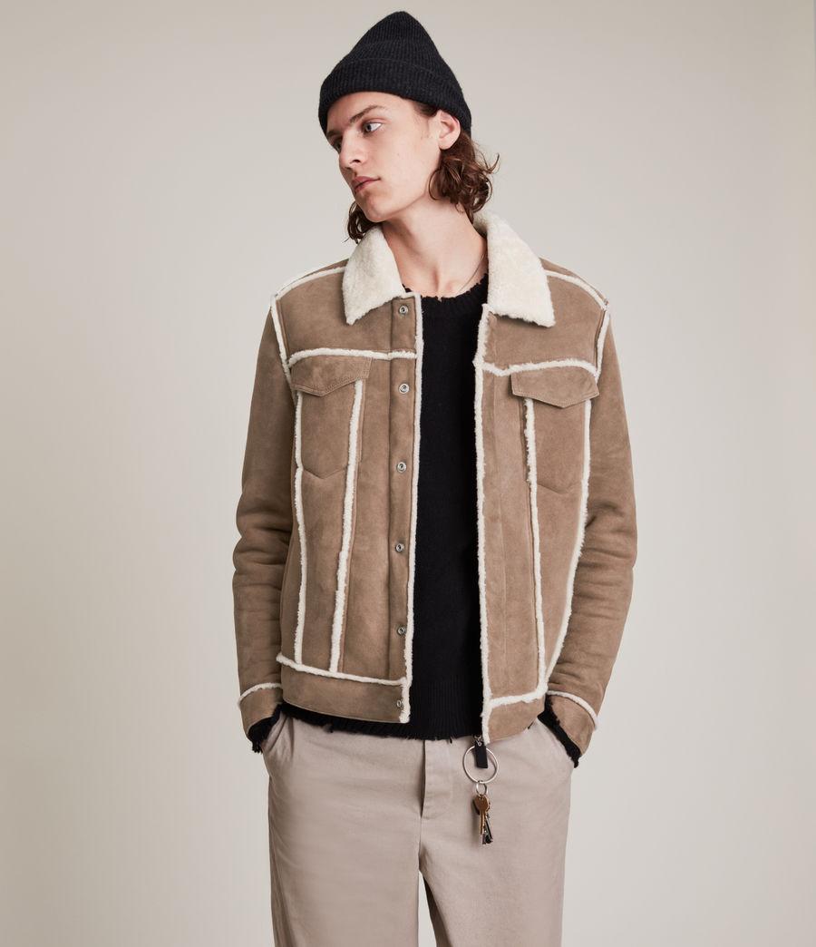 Mens Hayle Shearling Jacket (mocha_natural) - Image 5