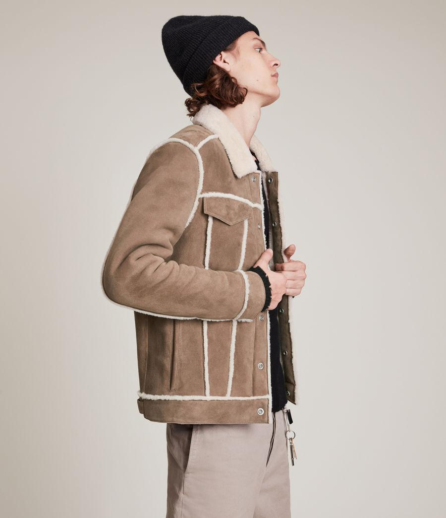 Mens Hayle Shearling Jacket (mocha_natural) - Image 6