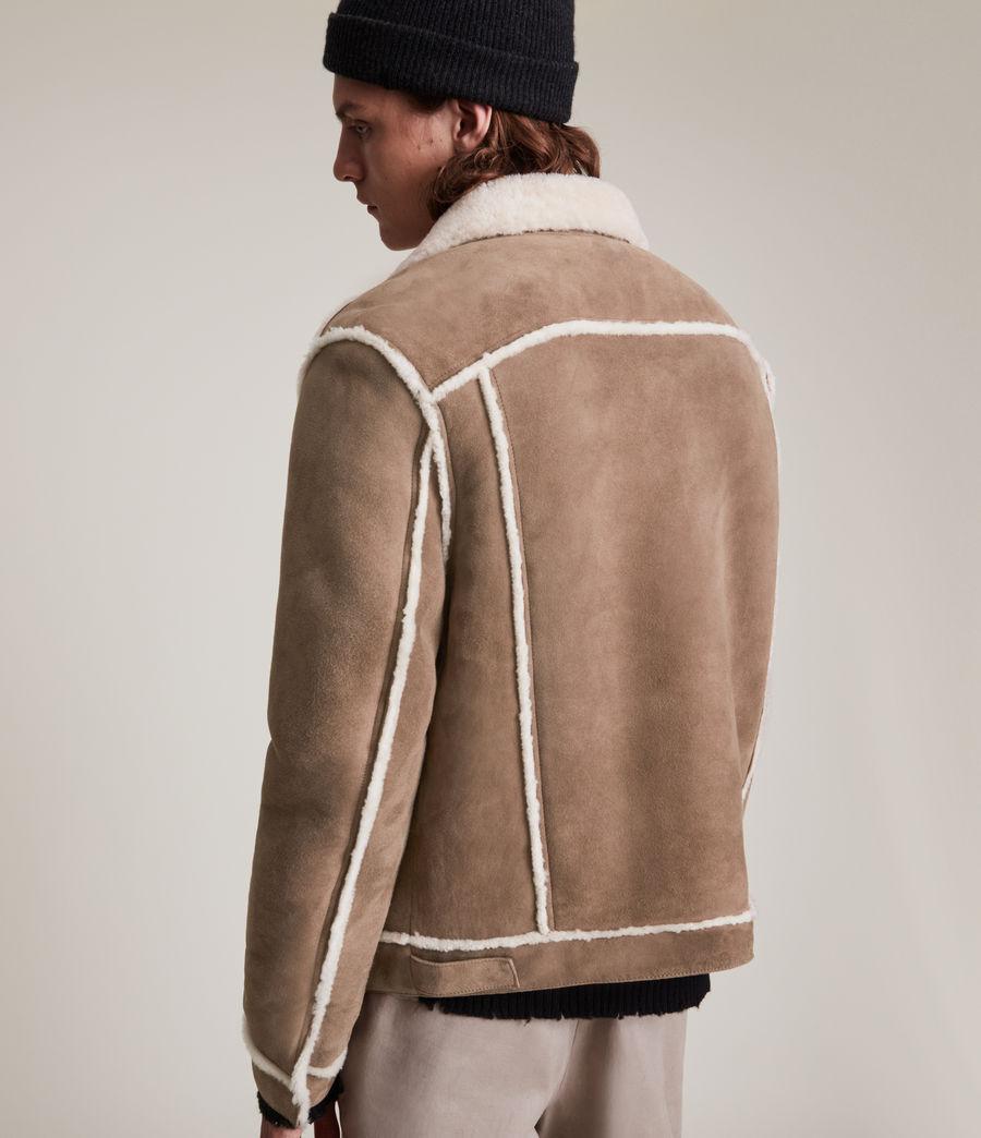 Mens Hayle Shearling Jacket (mocha_natural) - Image 7