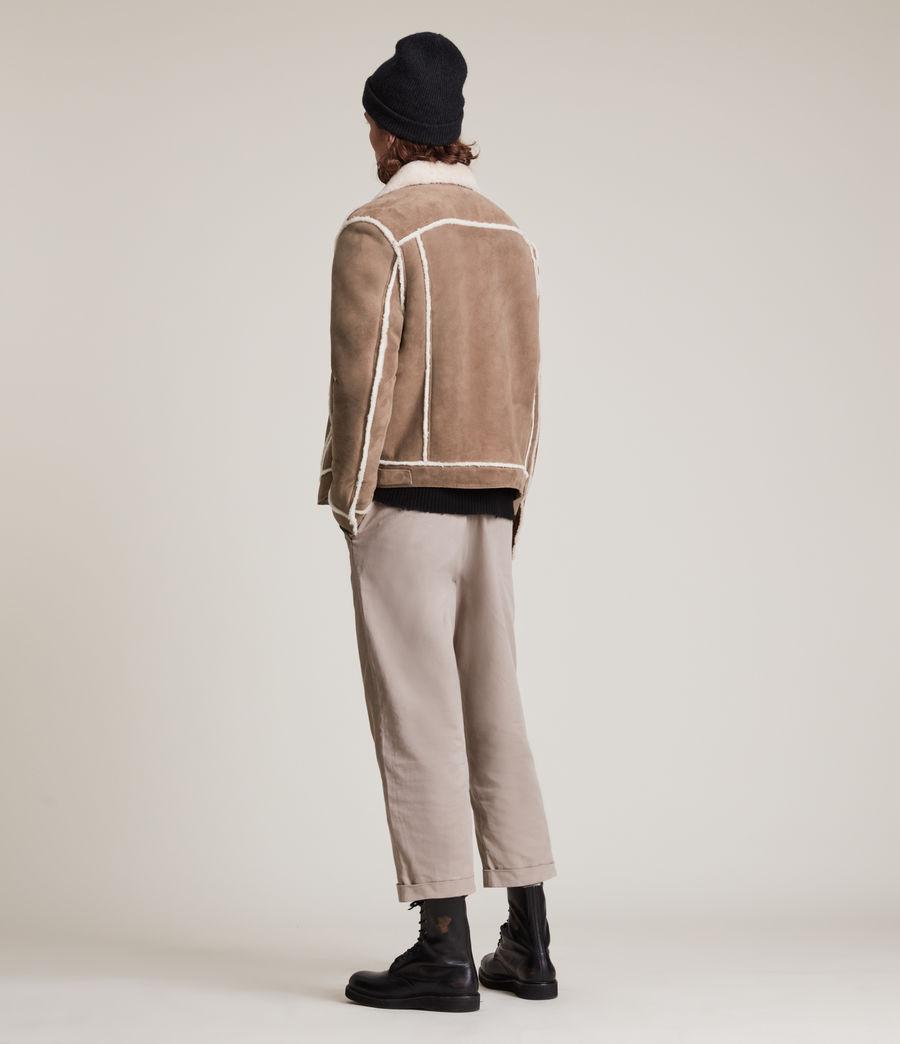 Mens Hayle Shearling Jacket (mocha_natural) - Image 8