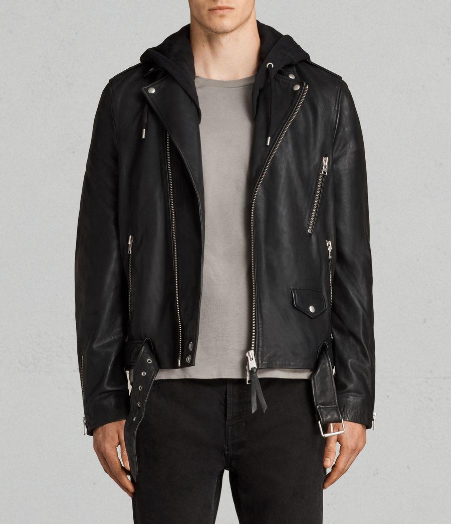 Uomo Giacca Stens Biker (black) - Image 1