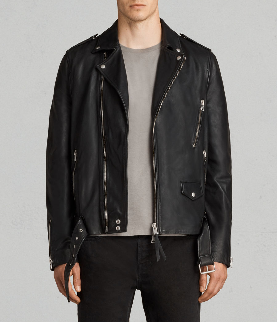 Uomo Giacca Stens Biker (black) - Image 5