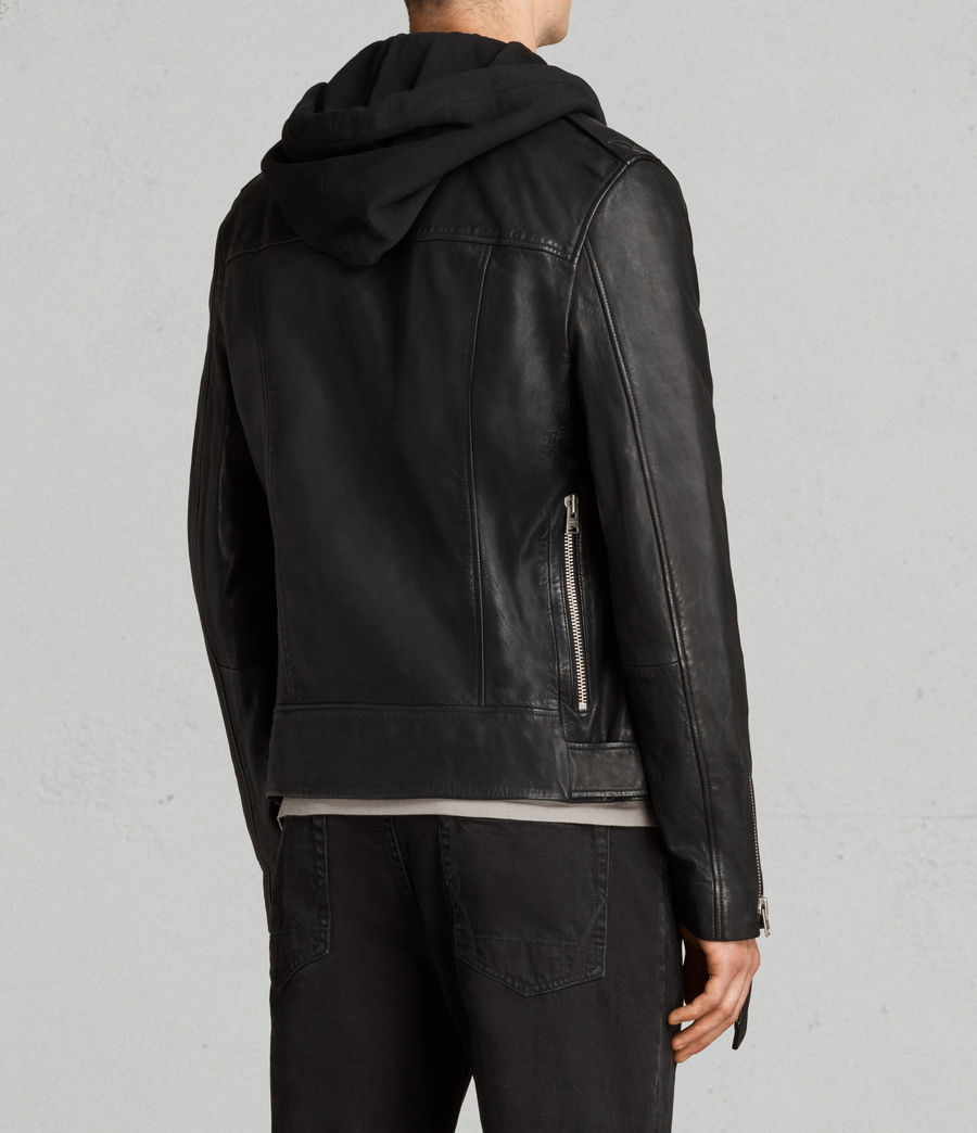 Uomo Giacca Stens Biker (black) - Image 9