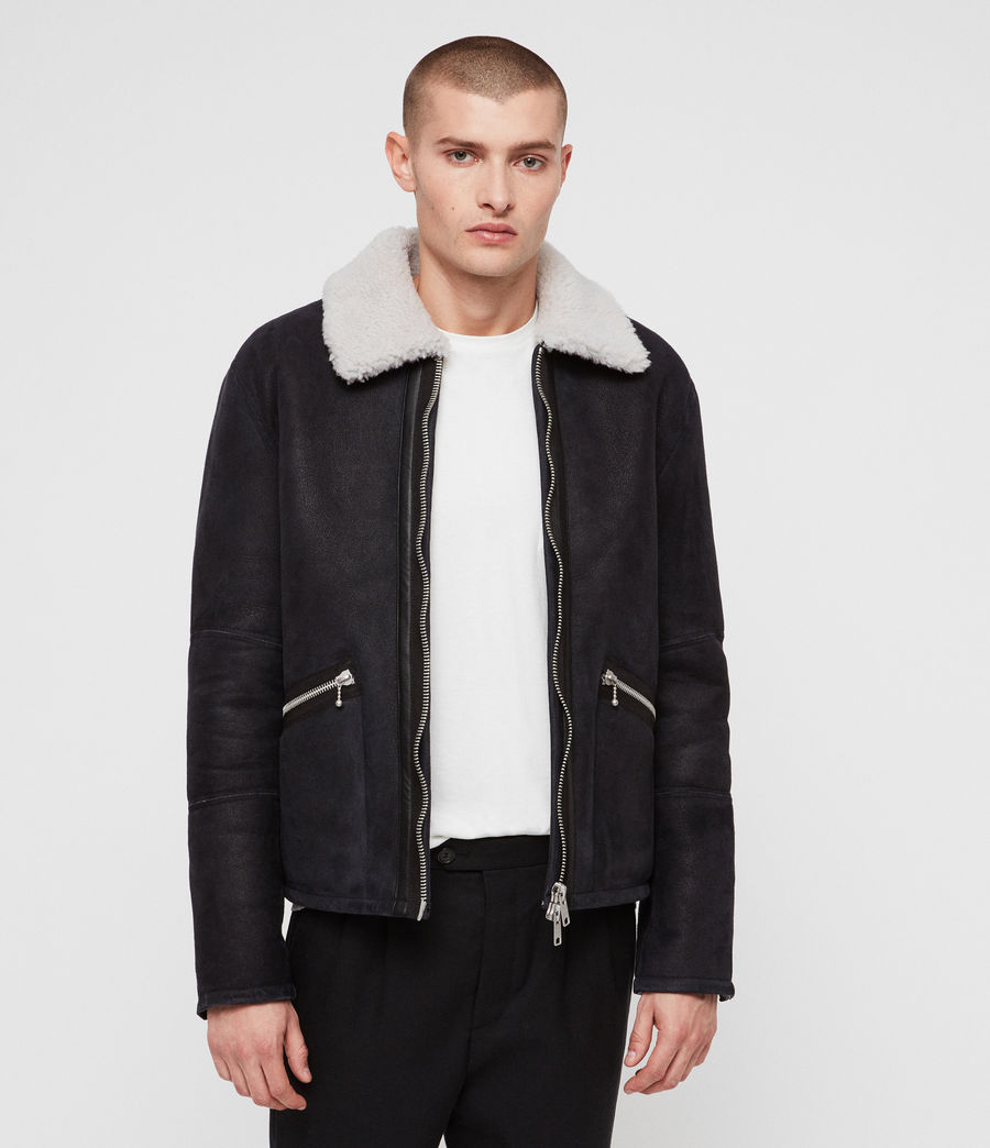 Mens Vaider Shearling Jacket (black) - Image 1