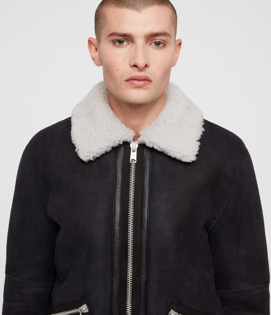 Mens Vaider Shearling Jacket (black) - Image 2