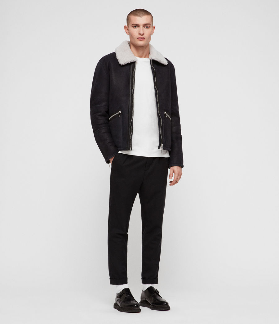 Mens Vaider Shearling Jacket (black) - Image 3