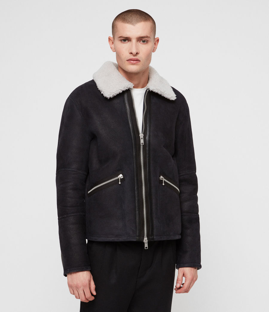 Mens Vaider Shearling Jacket (black) - Image 5