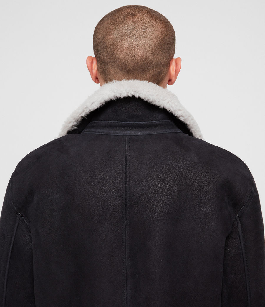 Men's Vaider Shearling Jacket (black) - Image 6