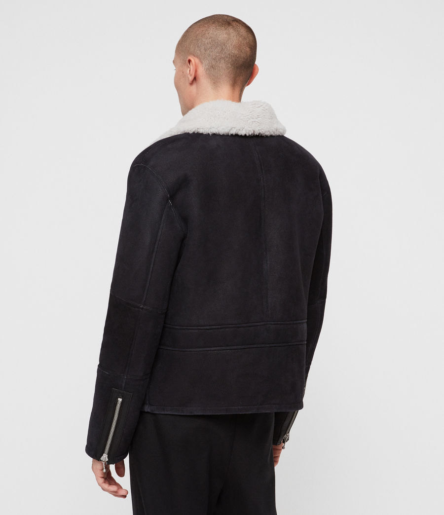 Mens Vaider Shearling Jacket (black) - Image 7