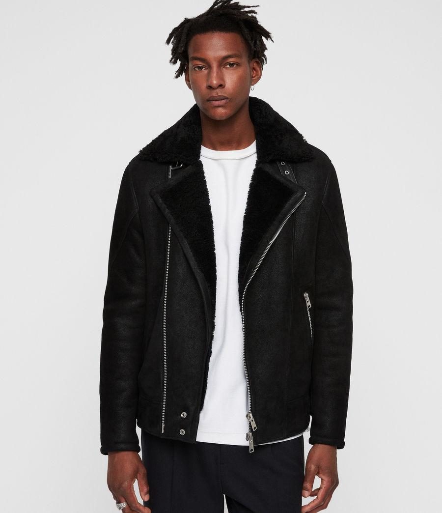 Mens Myres Shearling Jacket (black_black) - Image 1