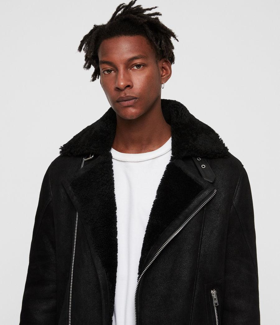 Mens Myres Shearling Jacket (black_black) - Image 2