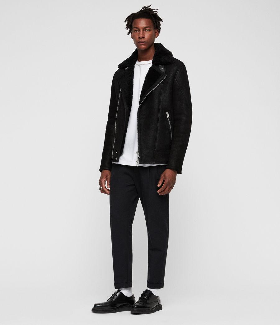 Mens Myres Shearling Jacket (black_black) - Image 3