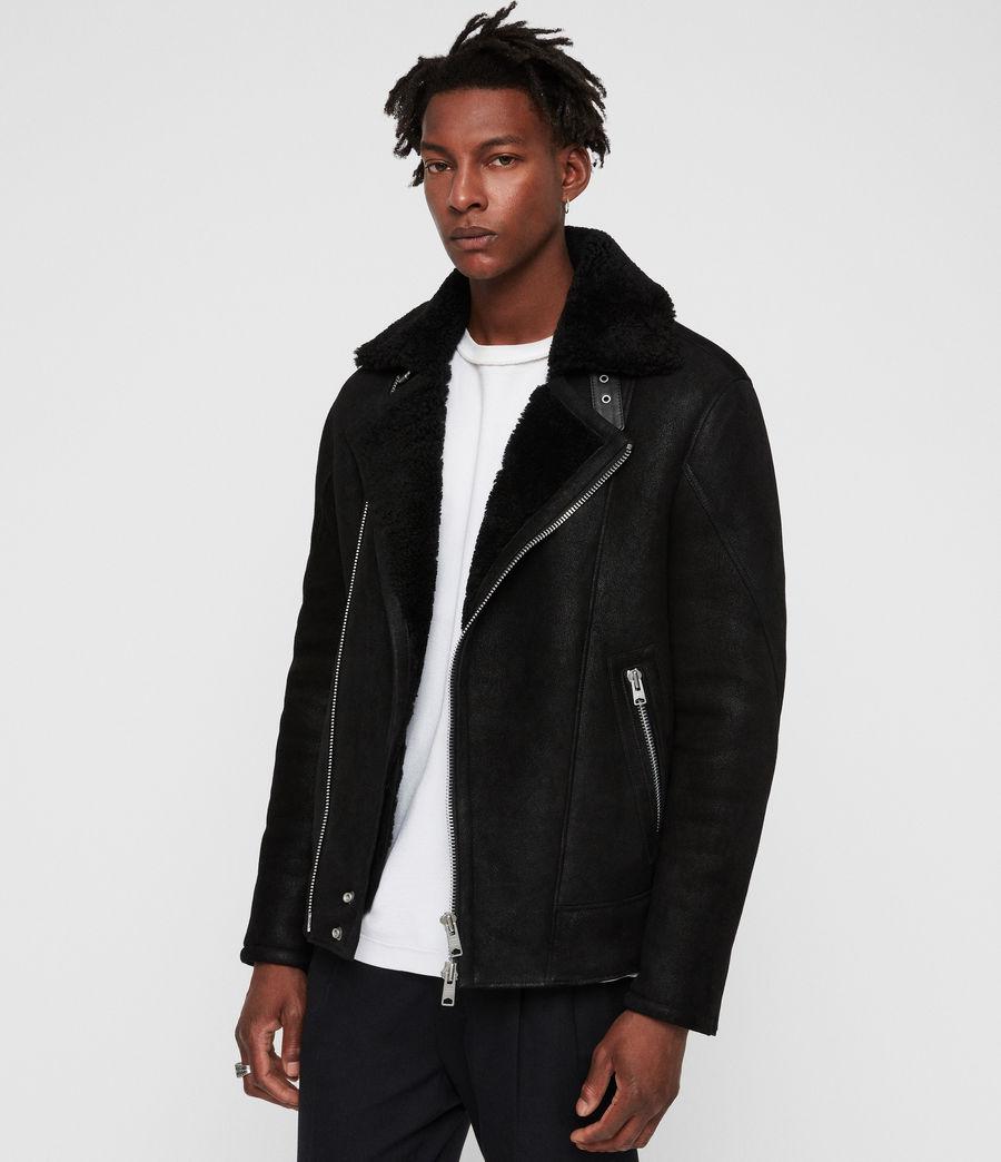 Mens Myres Shearling Jacket (black_black) - Image 4