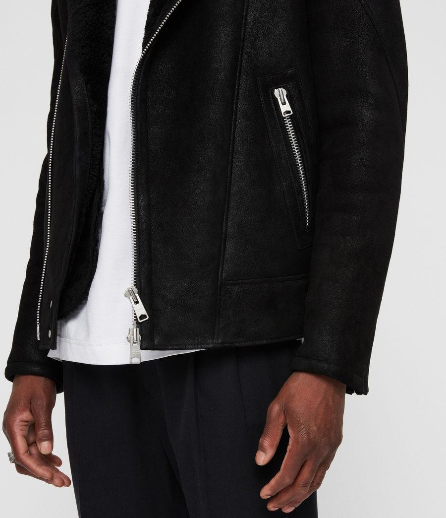 Mens Myres Shearling Jacket (black_black) - Image 5