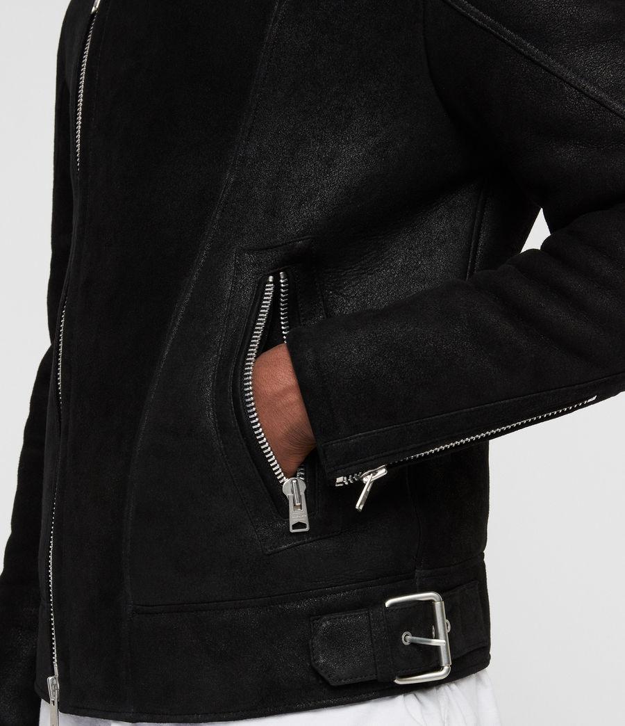 Mens Myres Shearling Jacket (black_black) - Image 6