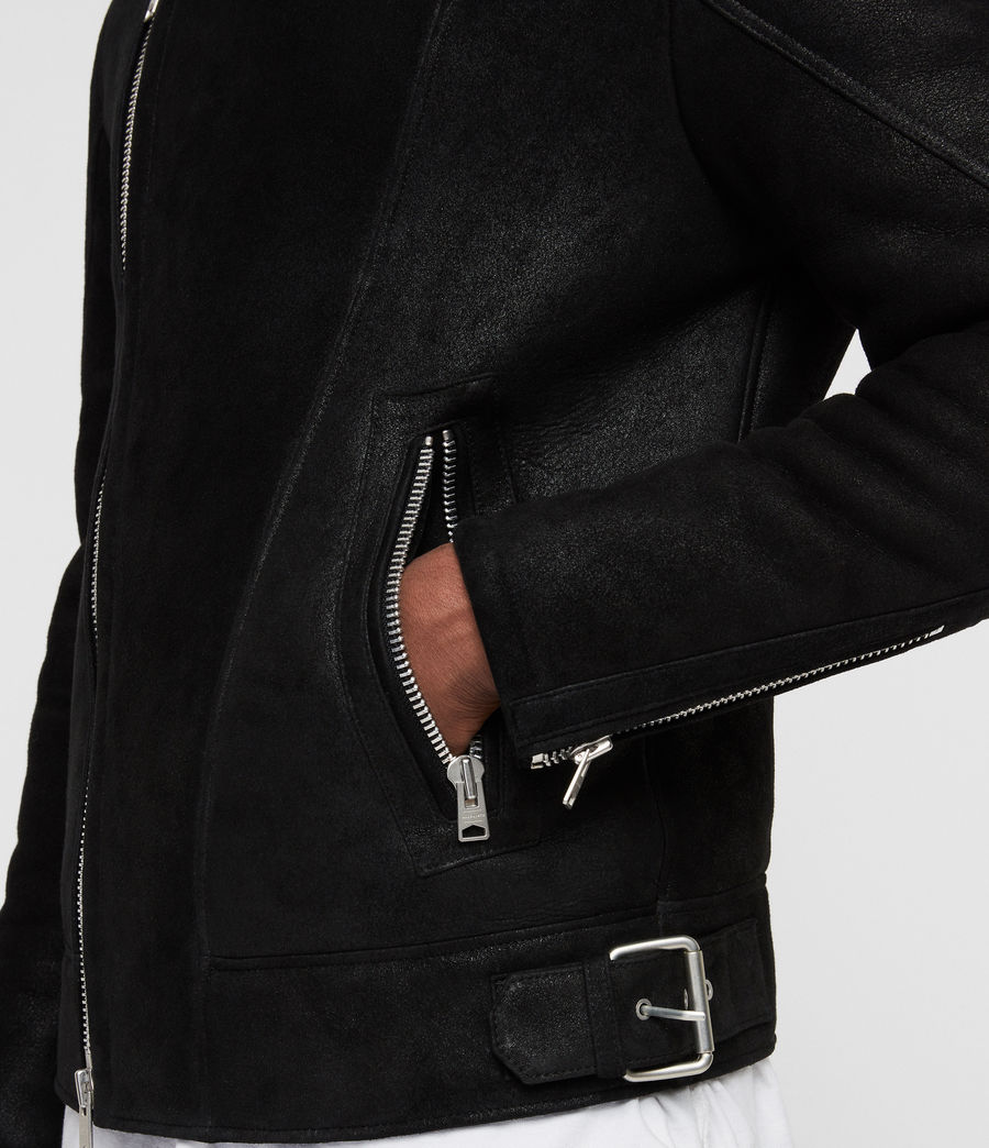 Uomo Giacca Shearling Myres (black_black) - Image 6