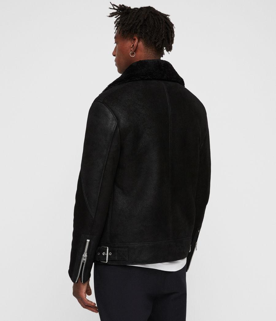 Mens Myres Shearling Jacket (black_black) - Image 7