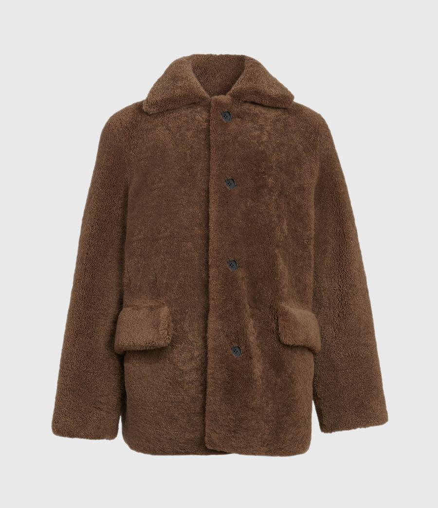 Mens Carter Shearling Coat (toffee_brown) - Image 2