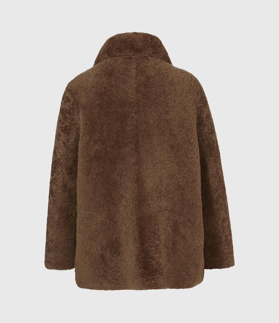 Mens Carter Shearling Coat (toffee_brown) - Image 3
