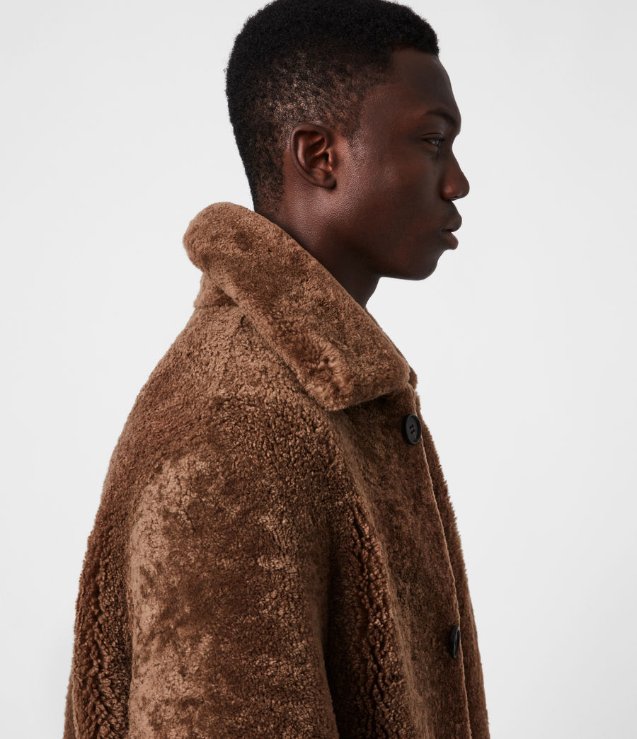 Mens Carter Shearling Coat (toffee_brown) - Image 4