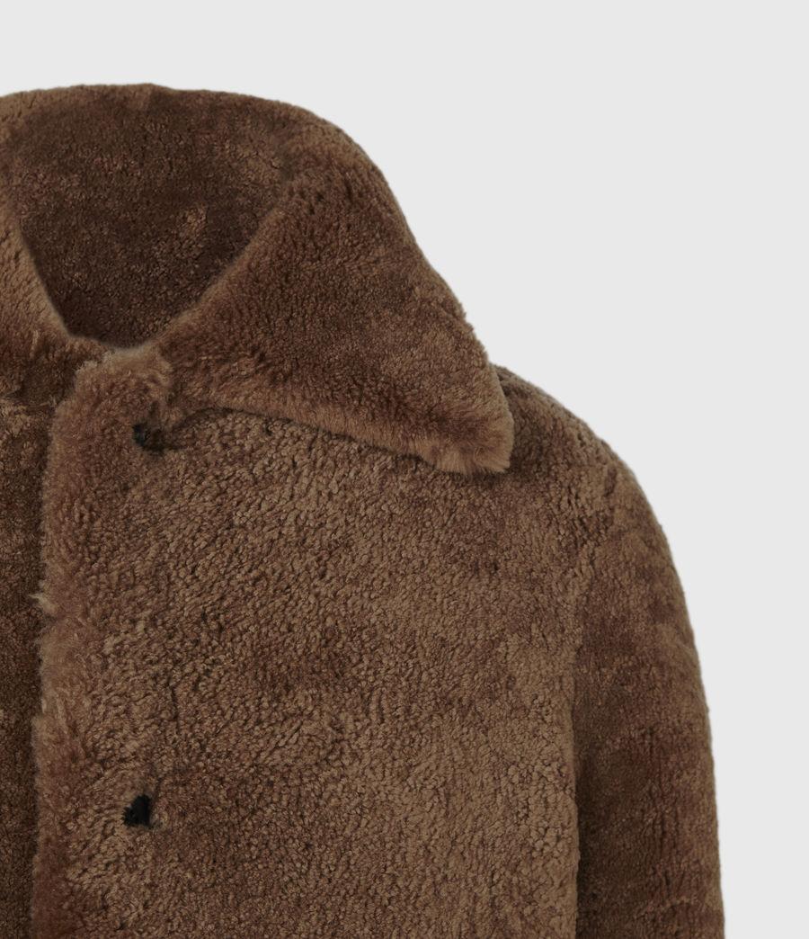 Mens Carter Shearling Coat (toffee_brown) - Image 5