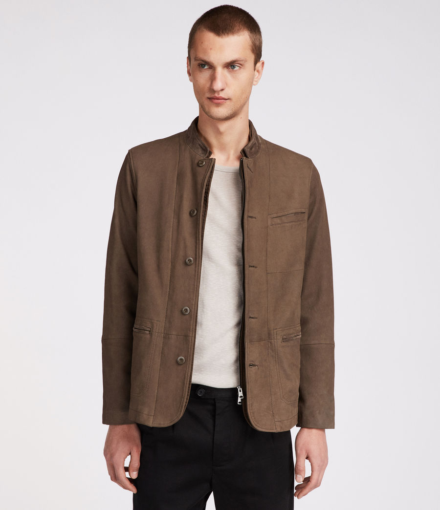 Headen Leather Blazer by Allsaints