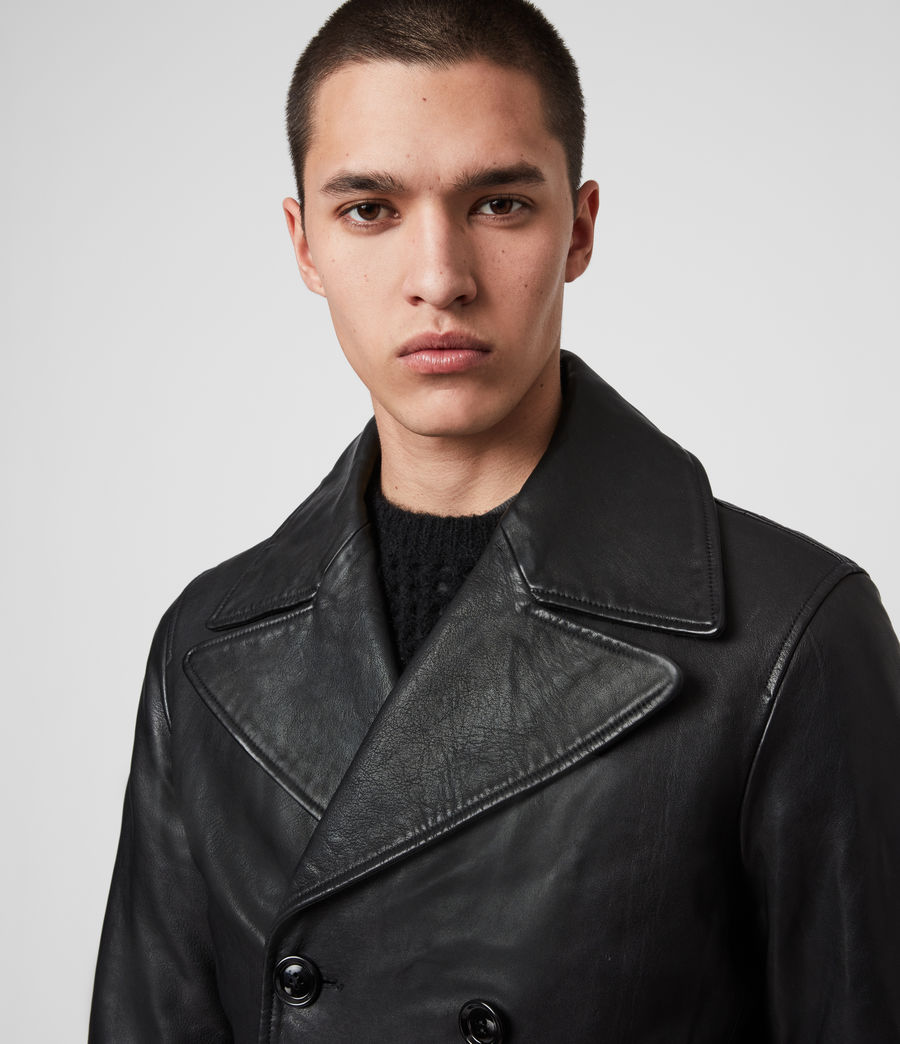 Mens Princelet Leather Jacket (black) - Image 5