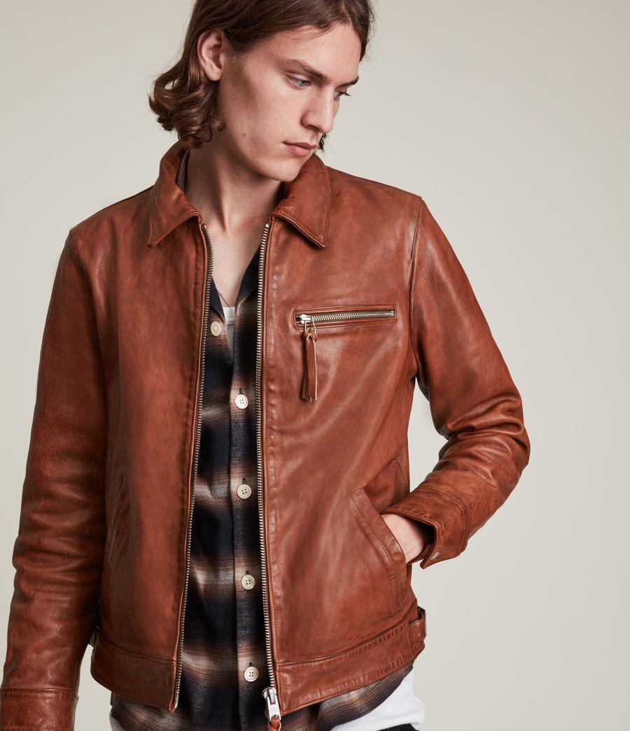 Men's Stanley Leather Jacket (tan) - Image 1