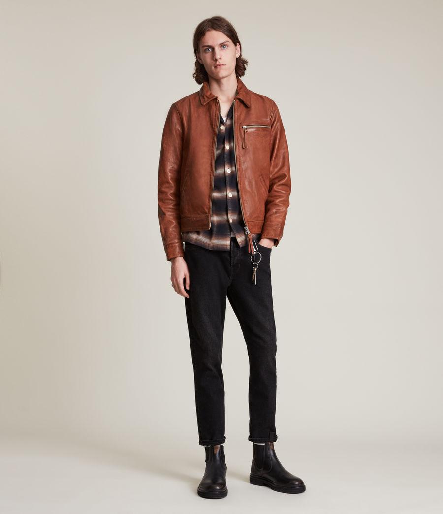 Men's Stanley Leather Jacket (tan) - Image 2