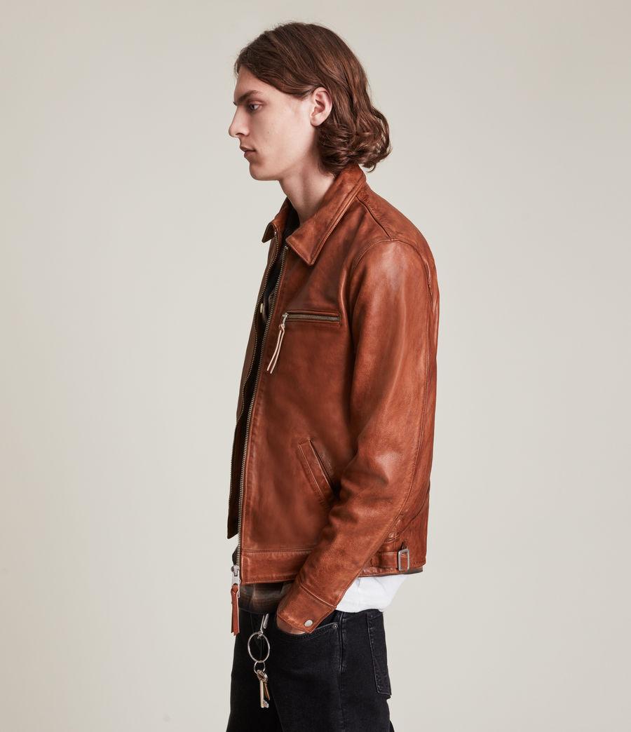 Men's Stanley Leather Jacket (tan) - Image 5