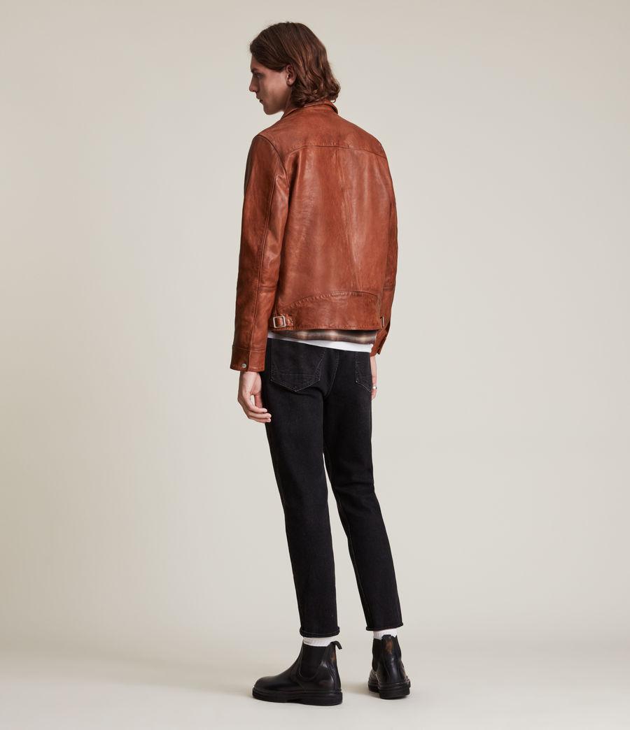 Men's Stanley Leather Jacket (tan) - Image 6