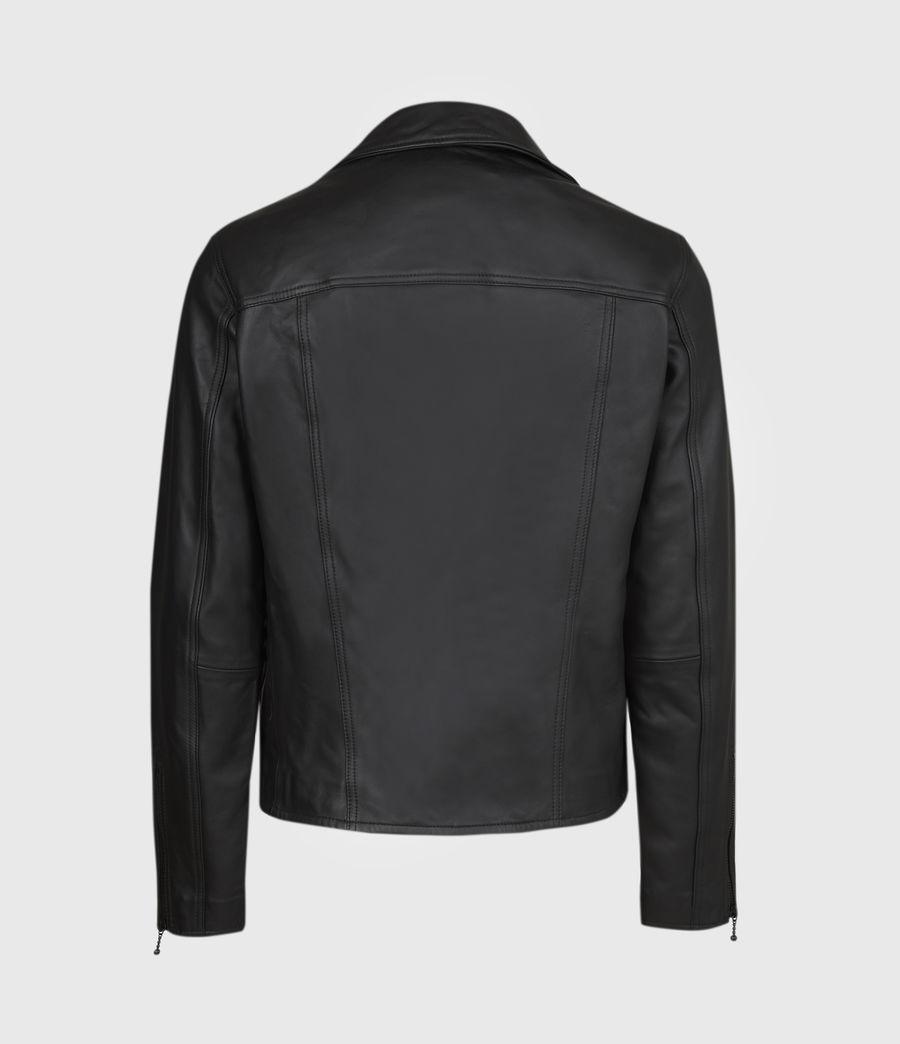 Men's Roso Leather Biker Jacket (black) - Image 3