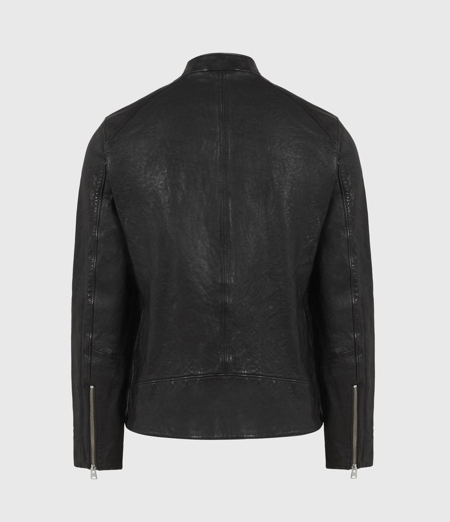 Mens Floyd Leather Biker Jacket (black) - Image 4