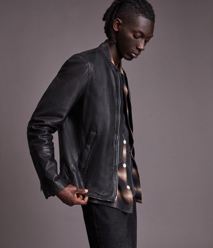 Herren Gates Leather Jacket (black) - Image 1
