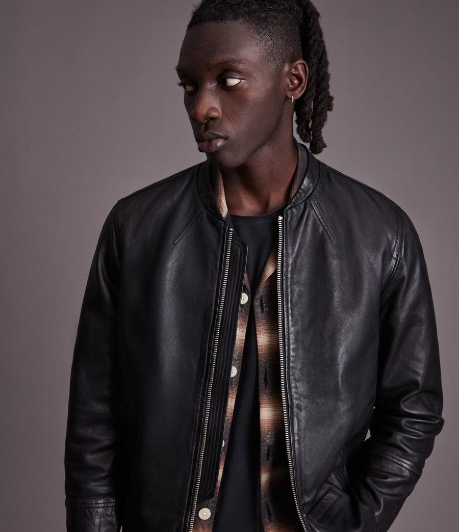 Herren Gates Leather Jacket (black) - Image 2