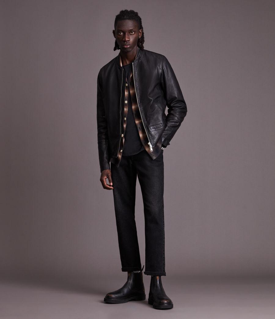 Herren Gates Leather Jacket (black) - Image 3